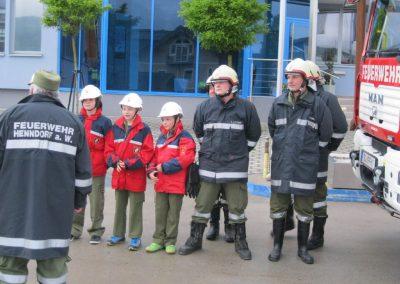 Übung der Feuerwehrjugend Henndorf auf Betriebsgelände der IMB Spirk Ges.m.b.H.